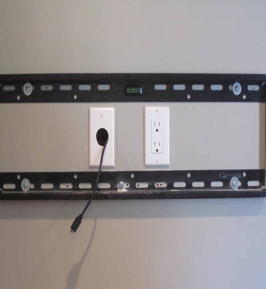 Wiring And Installing A Flat Screen Television Above Fireplace In Order To Conceal The Wires