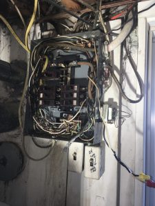 burned out 100 amp panel